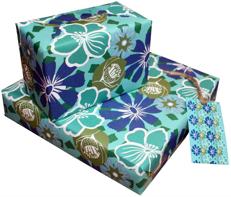 ECO Friendly Recycled Wrapping Paper Tropical by Kate Heiss