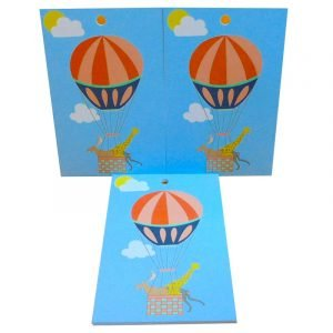 Re-wrapped: ECO Friendly Wrapping Paper Tags Childrens Hot Air Balloons Tags by Louise Thomas made from 100% Unbleached Recycled Paper