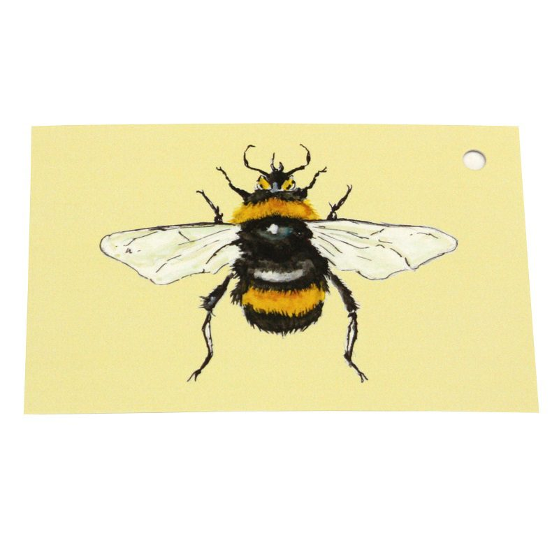 Re-wrapped: ECO Friendly Wrapping Paper Tags Bee Back by Sophie Botsford made from 100% Unbleached Recycled Paper