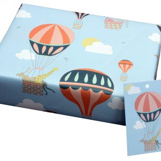 ECO Friendly Recycled Wrapping Paper Hot Air Balloons by Louise Thomas