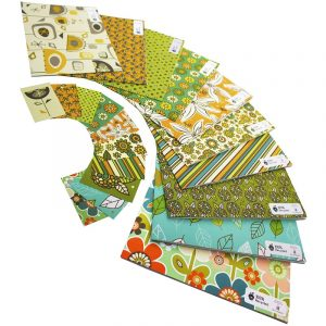 Re-wrapped: ECO Friendly Wrapping Paper Retro Large Pack by Rosie Parkinson made from 100% Unbleached Recycled Paper