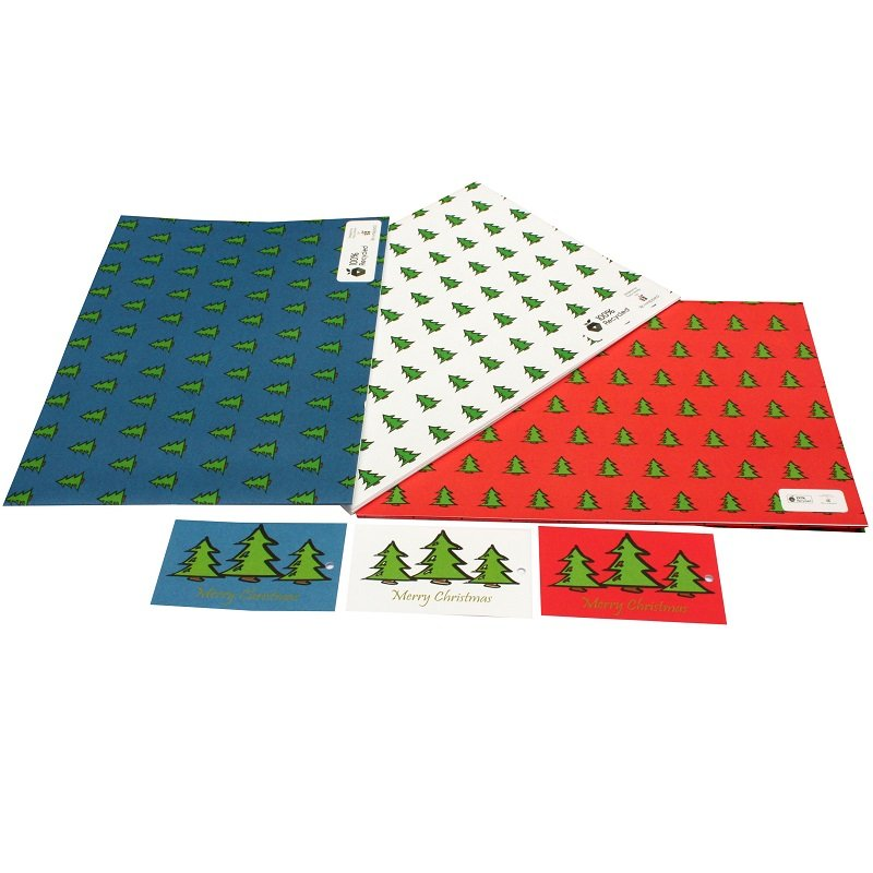 Re-wrapped: ECO Friendly Xmas Wrapping Paper O Christmas Tree Bundle by Tracy Umney made from 100% Unbleached Recycled Paper