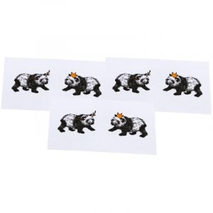 Re-wrapped: ECO Friendly Xmas Wrapping Paper Tags Christmas Pandas & Hats by Emily Chapman made from 100% Unbleached Recycled Paper