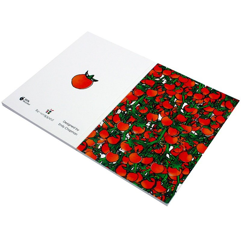 Re-wrapped: ECO Friendly Notebooks Tomatoes & VInes by Emily Chapman made from 100% Unbleached Recycled Paper
