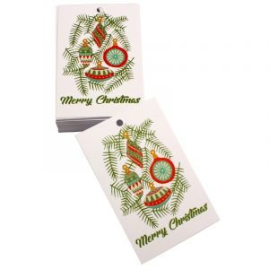 Re-wrapped: ECO Friendly Xmas Wrapping Paper Tags Christmas Baubles White by Kate Heiss made from 100% Unbleached Recycled Paper