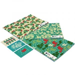 Re-wrapped: ECO Friendly Xmas Wrapping Paper Christmas Trees Bundle by Kate Heiss made from 100% Unbleached Recycled Paper