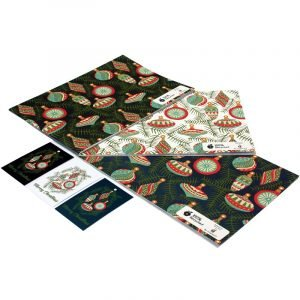 Re-wrapped: ECO Friendly Xmas Wrapping Paper Christmas Baubles Bundle by Kate Heiss made from 100% Unbleached Recycled Paper