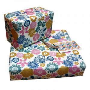 Re-wrapped: ECO Friendly Wrapping Paper Cottage Garden by Kate Heiss made from 100% Unbleached Recycled Paper