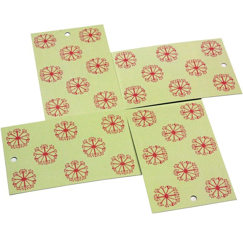 Re-wrapped: ECO Friendly Wrapping Paper Tags Pink Ditsy Ditsy by Kate Heiss made from 100% Unbleached Recycled Paper