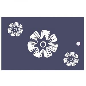 Re-wrapped: ECO Friendly Wrapping Paper Tags Woodblock Flowers by Kate Heiss made from 100% Unbleached Recycled Paper
