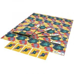 Re-wrapped: ECO Friendly Wrapping Paper Wild Roses by Kate Heiss made from 100% Unbleached Recycled Paper