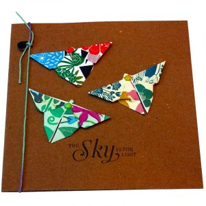 Re-wrapped: ECO Friendly Wrapping Paper Butterflies The Sky is the Limit Card made from 100% Unbleached Recycled Paper