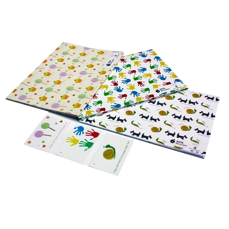 Re-wrapped: ECO Friendly Wrapping Paper Childrens Bundle by Tracy Umney made from 100% Unbleached Recycled Paper