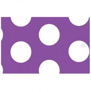Re-wrapped: ECO Friendly Wrapping Paper Tags Polka Dot Purple by Tracy Umney made from 100% Unbleached Recycled Paper
