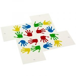 Re-wrapped: ECO Friendly Wrapping Paper Tags Childrens Handprints by Tracy Umney made from 100% Unbleached Recycled Paper