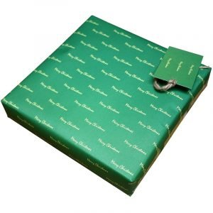 Re-wrapped: ECO Friendly Xmas Wrapping Paper Merry Christmas by Tracy Umney made from 100% Unbleached Recycled Paper