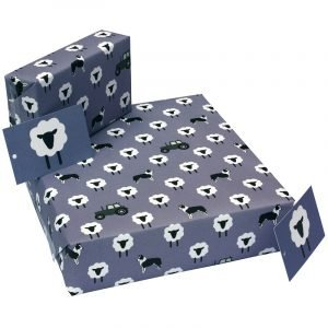 Re-wrapped: ECO Friendly Wrapping Paper Purple Ewe by New Ewe made from 100% Unbleached Recycled Paper