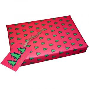 Re-wrapped: ECO Friendly Xmas Wrapping Paper O Christmas Tree Pink by Tracy Umney made from 100% Unbleached Recycled Paper