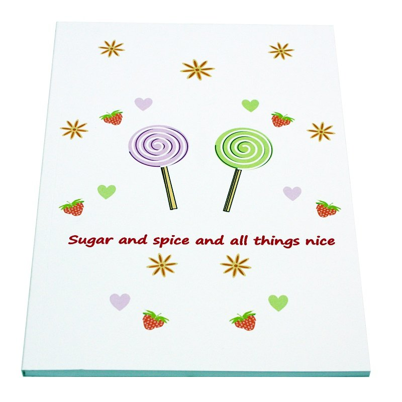 Re-wrapped: ECO Friendly Notebooks Children's Sugar & Spice by Tracy Umney made from 100% Unbleached Recycled Paper