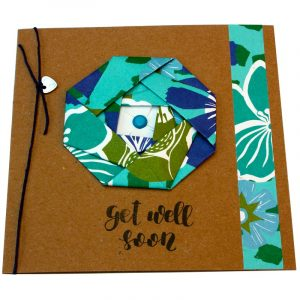Re-wrapped: ECO Friendly Wrapping Paper Tropical Get Well Soon Card made from 100% Unbleached Recycled Paper