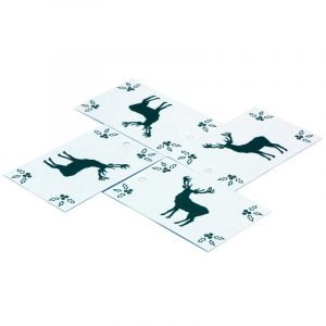 Re-wrapped: ECO Friendly Xmas Wrapping Paper Tags Christmas Scandi Deer by Sophie Botsford made from 100% Unbleached Recycled Paper