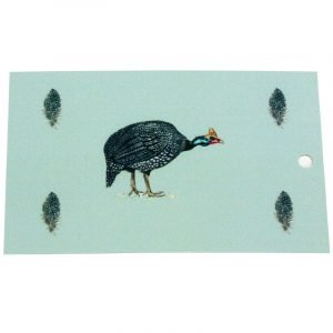 Re-wrapped: ECO Friendly Wrapping Paper Tags Guinea Fowl Game Birds by Sophie Botsford made from 100% Unbleached Recycled Paper