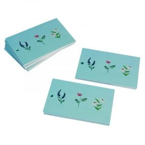 Re-wrapped: ECO Friendly Wrapping Paper Tags Wild Flowers by Vicky Scott made from 100% Unbleached Recycled Paper