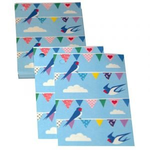 Re-wrapped: ECO Friendly Wrapping Paper Tags Bunting by Vicky Scott made from 100% Unbleached Recycled Paper