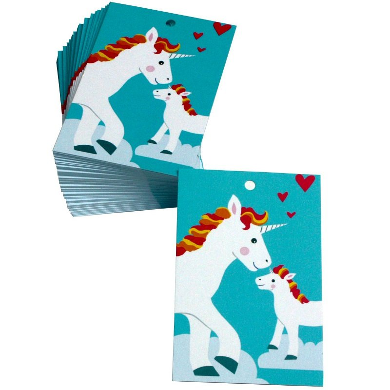 Re-wrapped: ECO Friendly Wrapping Paper Tags New Baby Unicorns by Vicky Scott made from 100% Unbleached Recycled Paper