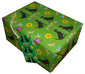 Re-wrapped: ECO Friendly Wrapping Paper Cats by Vicky Scott made from 100% Unbleached Recycled Paper