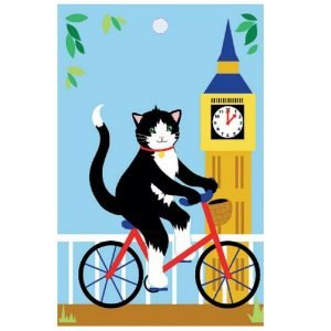 Re-wrapped: ECO Friendly Wrapping Paper Tags London Cats by Vicky Scott made from 100% Unbleached Recycled Paper