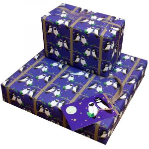 Re-wrapped: ECO Friendly Wrapping Paper Owls by Vicky Scott made from 100% Unbleached Recycled Paper