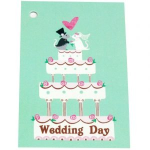 Re-wrapped: ECO Friendly Wrapping Paper Tags Wedding Day Mice by Vicky Scott made from 100% Unbleached Recycled Paper