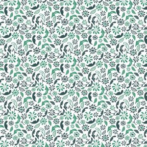 Re-wrapped: ECO Friendly Birthday Wrapping Paper Green Ditsy by Rosie Parkinson made from 100% Unbleached Recycled Paper