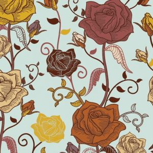Re-wrapped: ECO Friendly Birthday Wrapping Paper Roses by Rosie Parkinson made from 100% Unbleached Recycled Paper