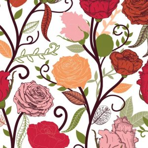 Re-wrapped: ECO Friendly Birthday Wrapping Paper Red Rosa by Rosie Parkinson made from 100% Unbleached Recycled Paper