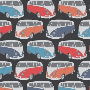 Re-wrapped: ECO Friendly Birthday Wrapping Paper Volkswagen Camper Van by Rosie Parkinson made from 100% Unbleached Recycled Paper