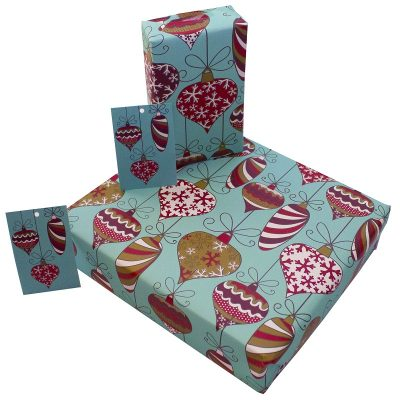 Re-wrapped: ECO Friendly Wrapping Paper Christmas Decorations by Rosie Parkinson made from 100% Unbleached Recycled Paper