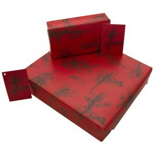 Re-wrapped: ECO Friendly Wrapping Paper Christmas Holly by Rosie Parkinson made from 100% Unbleached Recycled Paper