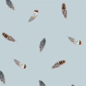 Re-wrapped: ECO Friendly Birthday Wrapping Paper Feathers by Sophie Botsford made from 100% Unbleached Recycled Paper