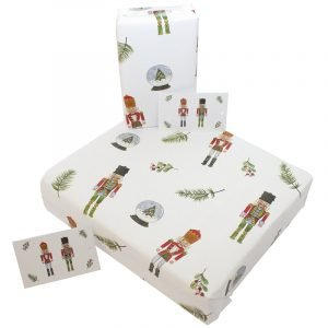 Re-wrapped: ECO Friendly Wrapping Paper Christmas Tin Soldiers by Sophie Botsford made from 100% Unbleached Recycled Paper