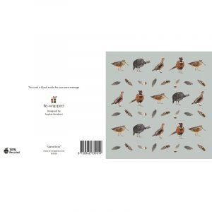 Re-wrapped: ECO Friendly Birthday Wrapping Paper Game Birds Greetings Card by Sophie Botsford made from 100% Unbleached Recycled Paper