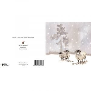 Re-wrapped: ECO Friendly Birthday Wrapping Paper Christmas Rams Greetings Card by Sophie Botsford made from 100% Unbleached Recycled Paper
