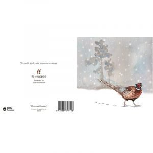 Re-wrapped: ECO Friendly Birthday Wrapping Paper Christmas Pheasant Greetings Card by Sophie Botsford made from 100% Unbleached Recycled Paper