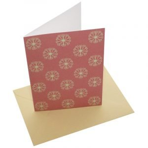 Re-wrapped: ECO Friendly Birthday Wrapping Paper Pink Ditsy Ditsy Greetings Card by Kate Heiss made from 100% Unbleached Recycled Card