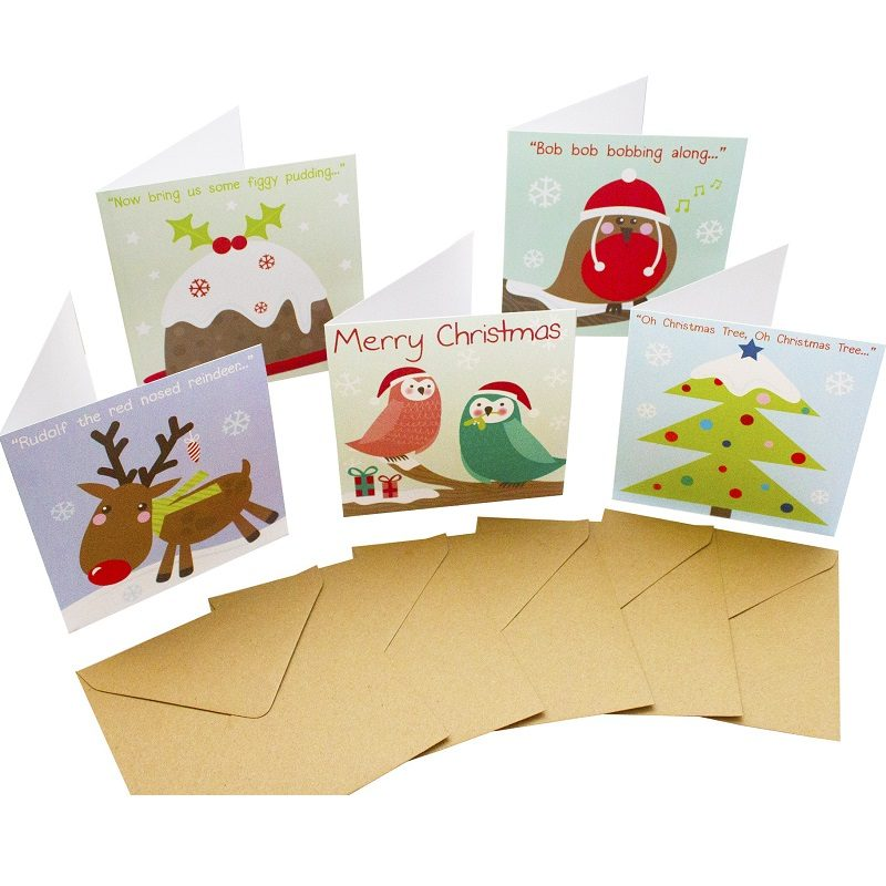 Re-wrapped: ECO Friendly Birthday Wrapping Paper Christmas Large Pack Greetings Card by Rosie Parkinson made from 100% Unbleached Recycled Card