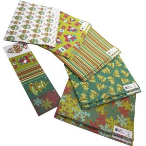 Re-wrapped: ECO Friendly Wrapping Paper Christmas Large Pack by Rosie Parkinson made from 100% Unbleached Recycled Paper