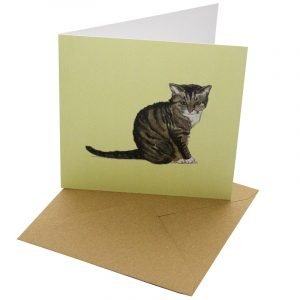 Re-wrapped: ECO Friendly Birthday Wrapping Paper Cat Breeds Wellington Greetings Card by Sophie Botsford made from 100% Unbleached Recycled Card