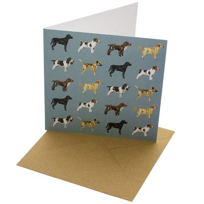 Re-wrapped: ECO Friendly Birthday Wrapping Paper Dogs Greetings Card by Sophie Botsford made from 100% Unbleached Recycled Card