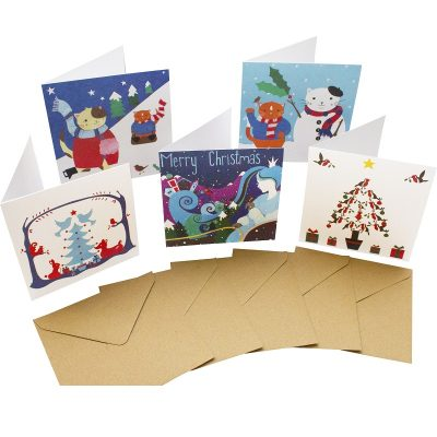 Re-wrapped: ECO Friendly Birthday Wrapping Paper Christmas Large Pack Greetings Card by Vicky Scott made from 100% Unbleached Recycled Card